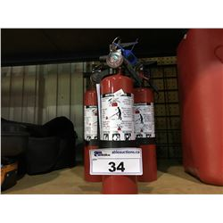 5 PORTABLE FIRE EXTINGUISHERS
