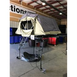 WILD COAST TENTS EXTREME JEEP ROOF RACK OVER HEAD OUTDOOR TENT SYSTEM INCLUDING LADDER, 2 MOUNTING