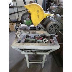 Kalamazoo K1 Chop Saw, w/ Baldor Single Phase Industrial Motor