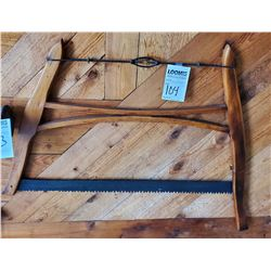FINISHED ANTIQUE WOOD SAW / COLLECTOR'S QUALITY