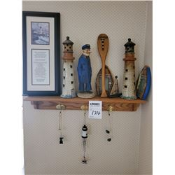 HIGH END NAUTICAL COLLECTION WITH OAK SHELF