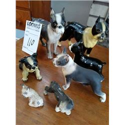 LRG LOT OF ANTIQUE DOGS COLLECTION