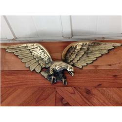 VINTAGE BRASS TYPE EAGLE WALL HANGING