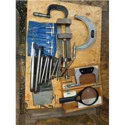 Micrometer, drill bits , hex head wrenches