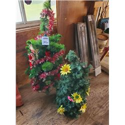 PAIR OF MINI CHRISTMAS TREES