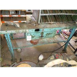 Blue heavy duty metal table
