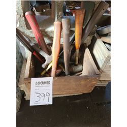 Box of mallets and hammers