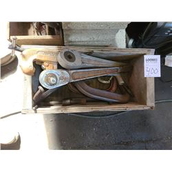 Box of ratchets and clamps (large)