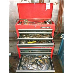 Craftsman tool box full of miscellaneous drill bits, cutting heads, etc (Hundreds)