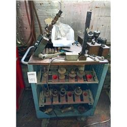 Rolling cart with miscellaneous milling machine heads
