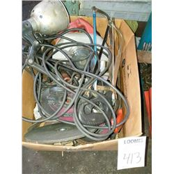 Miscellaneous lot of saws and grinding wheels
