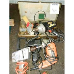Assorted lot of electric drills