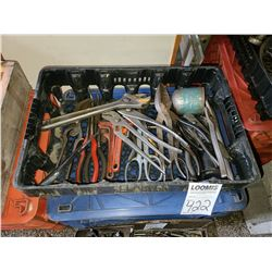 Miscellaneous tray of pliers, wrenches and shears