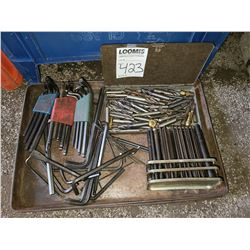 Lot of Allen wrenches and drill bits