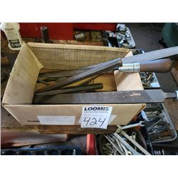Box of files and chisels