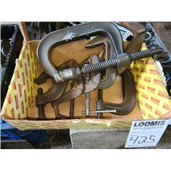Lot of assorted C clamps