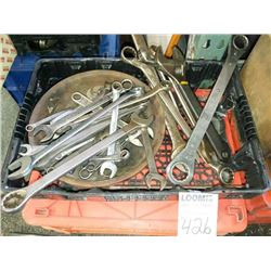 Large lot of assorted size wrenches