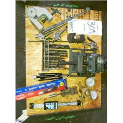 Miscellaneous to lot, wire twister , gauges, drill bits , etc