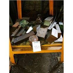 Miscellaneous shelf of metals