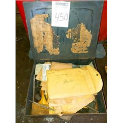 Metal box of machine parts