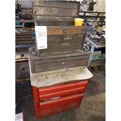 Kennedy top and bottom tool box with assorted tools