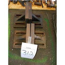 Metal machine bench ends