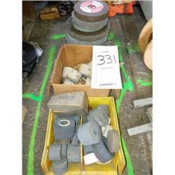 Assorted grinding wheels
