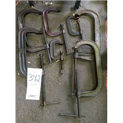 Assorted C clamps (large)