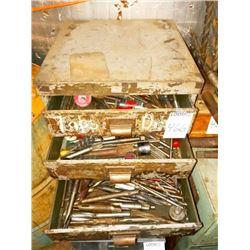 tool box full of drill bits