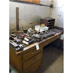 Assorted metal lathe parts