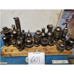 Set of milling heads