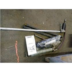 Lot of 2 grease guns,  pressure washer parts