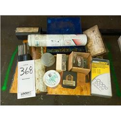 BUNDLE LOT: Misc Welding Materials / Plastic Organizer & Contents (Electrical)