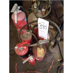 Assorted fire extinguishers (8)