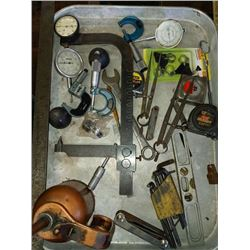 Miscellaneous tool and oil can lot, gauges
