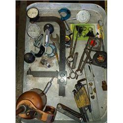 BUNDLE LOT: Misc. Tools & Oil Can & Gauges / Asstd. Goods