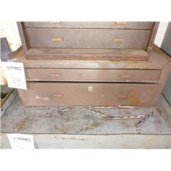 KENNEDY MACHINIST CHEST W/ NEW & LIKE-NEW CENTER BITS & OTHER