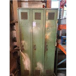 large green metal cabinet
