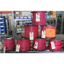 7 Spools of #12 Red Wire