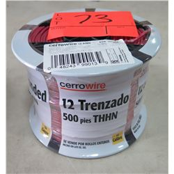 Sealed Spool of CerroWire #12 AWG Red Wire, 500 Ft. Spool