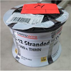 Sealed Spool of CerroWire #12 AWG Black Wire, 500 Ft. Spool