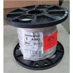 Sealed Spool CerroWire #8 White Wire
