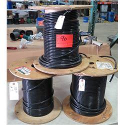 3 Spools #2 Black Wire