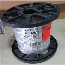 Sealed Spool CerroWire #8 Black Wire, 500 Ft. Spool
