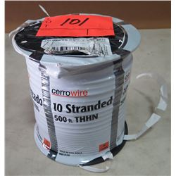 Sealed Spool CerroWire #10, Black Wire, 500 Ft. Spool