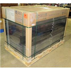 Qty 33 REC 320NP Black PV Solar Panels - New, On Pallet