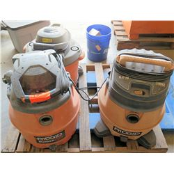 Qty Shop Vacuums (no hoses)