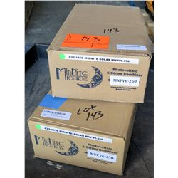 2 Boxes Midnight Solar Photovoltaic 6-String Combiner