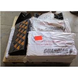 Contents of Pallet: 13 Guardian Rubber Curb Ramp w/ 8 Pieces