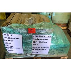 Contents of Pallet: Inaba-Denko AC Duct Parts